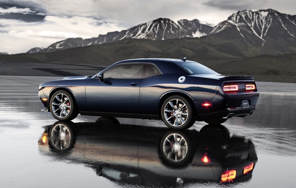 Picture Water, Reflection, Mountains, Dodge, Challenger, Landscape, Hemi, Muscle Car, Srt