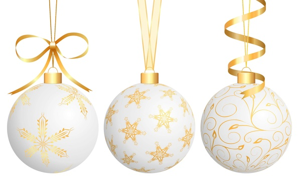 Picture tape, white background, year, new, Christmas balls