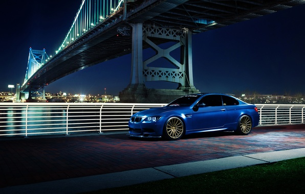 Picture BMW, blue, E92, other, Vossen Wheels