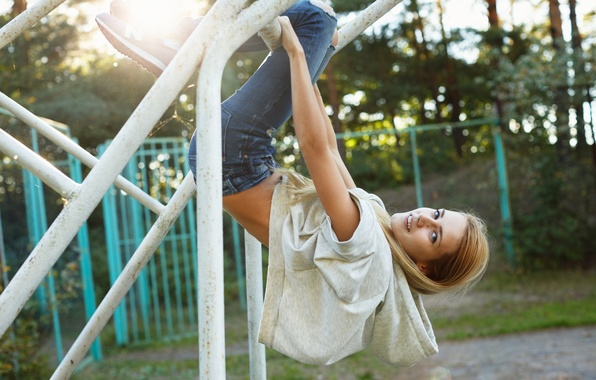 Picture face, model, hair, Playground, Alena, warm-up