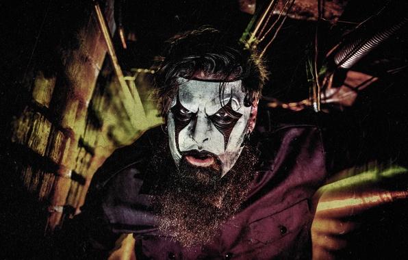 Picture mask, guitarist, male, beard, musician, Slipknot, Mask, Slipnot, James Root, James Ruth
