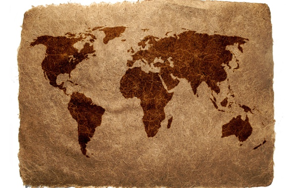Picture paper, earth, the world, Map