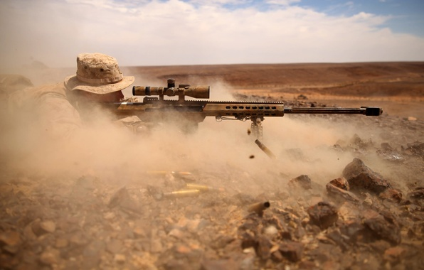 Picture dust, soldiers, optics, sniper, M82, Barret