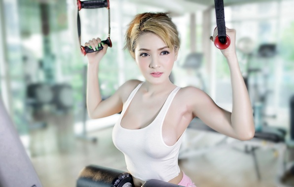 Picture girl, sport, Asian, training
