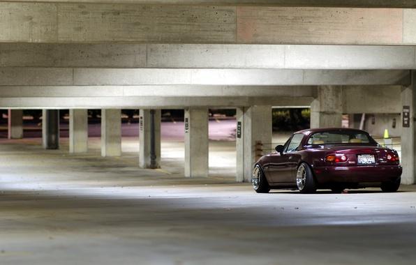 Picture machine, background, garage, mazda miata