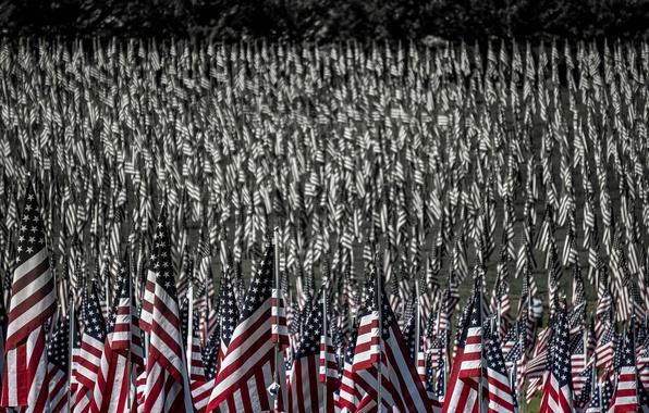 Picture background, USA, flags