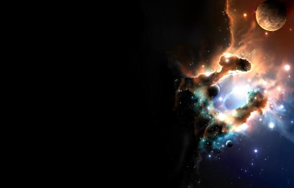 Picture Stars, Planet, Nebula