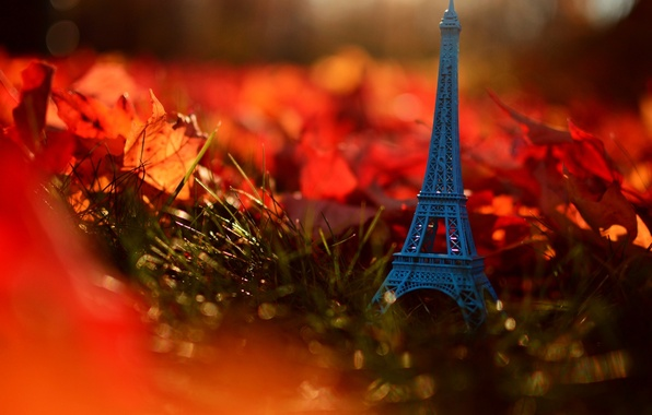 Picture autumn, grass, leaves, nature, France, Paris, Eiffel tower, Paris, grass, nature, France, autumn, leaves, Eiffel ...
