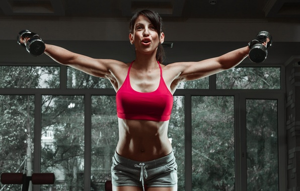 Photo wallpaper fitness, gym, female, workout