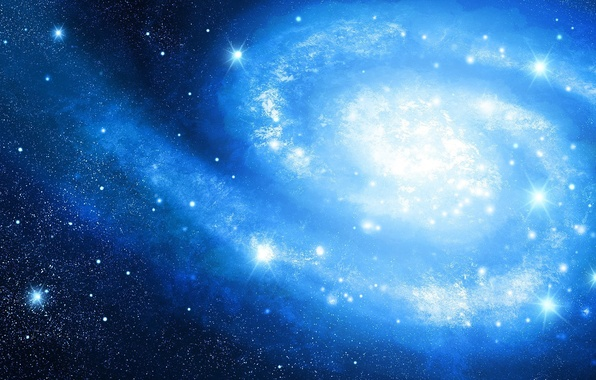 Picture space, stars, spiral, art, galaxy