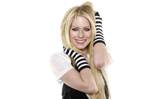 Photo wallpaper smile, blonde, avril lavigne, avril lavigne whibley