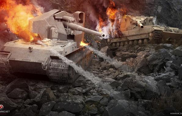 Picture Germany, tank, UK, tanks, Germany, WoT, World of tanks, United Kingdom, tank, World of Tanks, …
