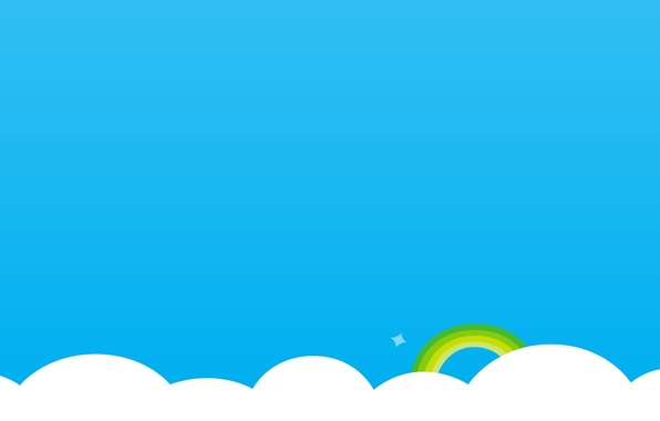 Picture clouds, rainbow, skype, simple background, Skype