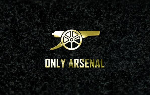 Wallpaper Arsenal, Logo, Minimalism, Football, Granit