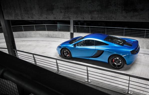 Picture McLaren, Blue, Ass, McLaren, Parking, Blue, Supercar, MP4-12C, Parking, Supercar, Rear