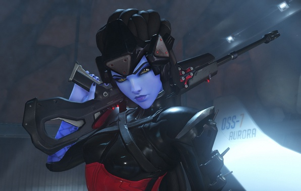 Wallpaper Sniper Sight Overwatch Widowmaker Amelie