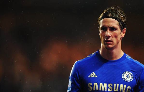 Picture England, Sport, Rain, Football, Club, Chelsea, Fernando Torres, Fernando Torres, Chelsea