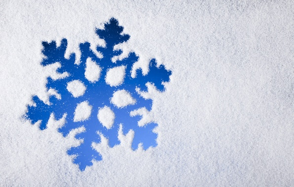 Picture winter, snow, blue, snowflake, winter, snow