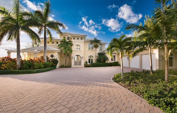 Picture house, home, villa, luxury, bahamas, palm