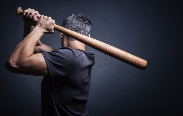 Picture blow, male, swing, bit