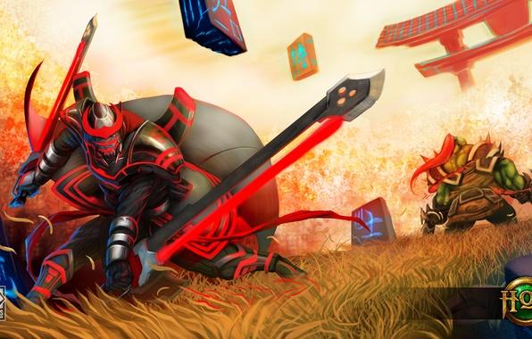 Picture warrior, Heroes of Newerth, Cyber Samurai, Swiftblade