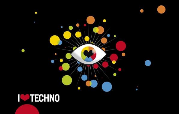 Picture music, techno, I love techno