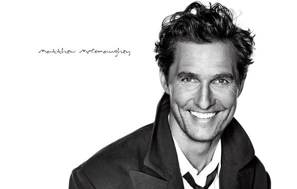 Picture smile, background, male, actor, Matthew McConaughey, Matthew McConaughey