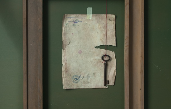 Picture sheet, frame, key