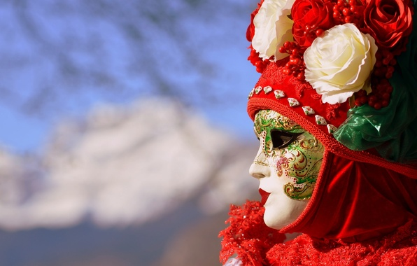 Picture mask, Italy, Venice, carnival