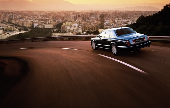 Picture the city, Bentley, Arnage, turn