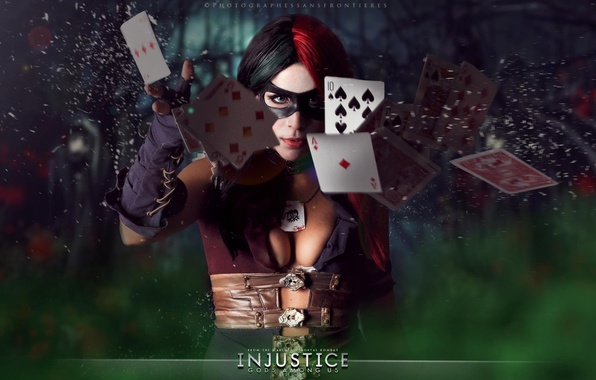Harley Quinn Injustice 2 Wallpaper: Wallpaper Card, Girl, Mask, Cosplay, Fighting, Harley