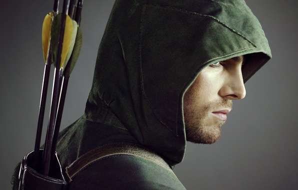 Picture face, hood, actor, profile, male, the series, arrows, Arrow, Oliver Queen, Arrow, Stephen Amell, Oliver …