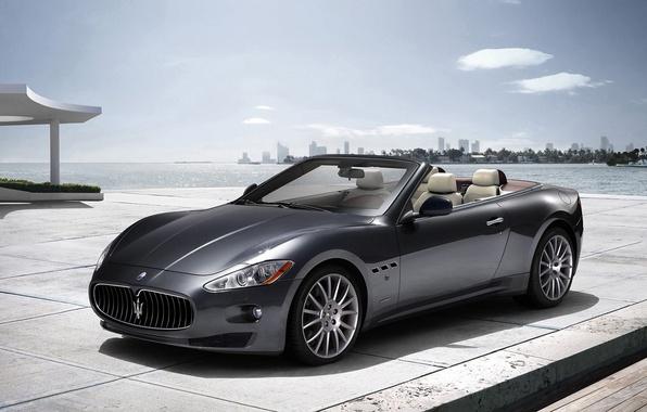 Picture sea, Maserati, convertible