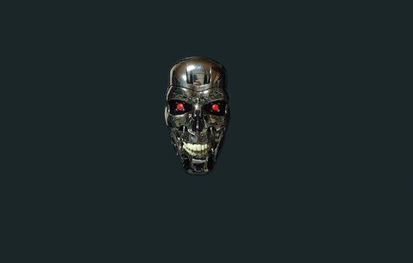 Picture skull, robot, minimalism, head, terminator, Terminator, T-800