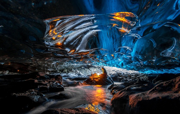 Picture ice, fire, cave, celovat