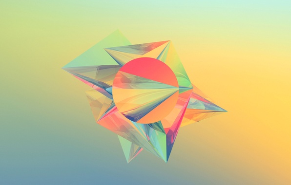 Picture Wallpaper, round, pyramid, angle, geometry, figure, face, triangle
