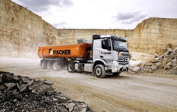 Picture Mercedes-Benz, truck, Mercedes, dump truck, 2015, machinery, Arocs