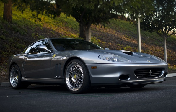 Picture tuning, Shine, car, drives, sports, double, Ferrari 575 Maranello