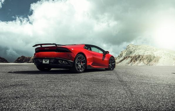 Picture Lamborghini, Red, Lamborghini, 2015, LP 610-4, Huracan, hurakan, Krsna