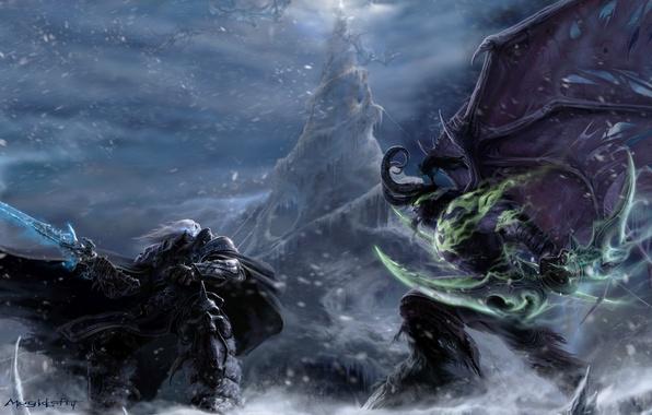 World Of Warcraft The Dark Portal Uhd 4k Wallpaper: Wallpaper Demon, Warcraft, Night Elf, Illidan, Arthas