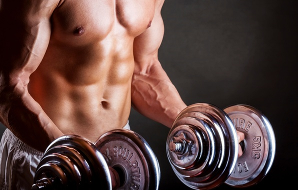 Picture body, athlete, bodybuilding, man, body, dumbbells, athlete, bodybuilding, dumbbells