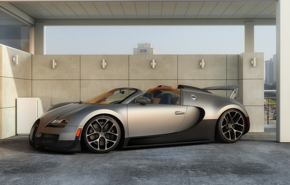 Picture machine, graphics, art, Bugatti, Grand, Veyron, supercar, Sport, Vitesse, dangeruss