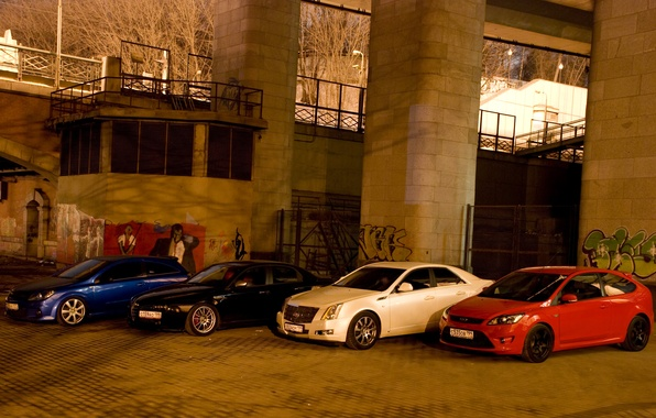 Picture ford, alfa romeo, cadillac, opel, sts, focus, astra