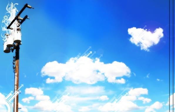 Picture the sky, landscape, nature, blue, Wallpaper