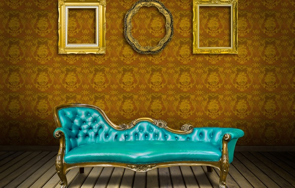 Picture sofa, Wallpaper, leather, vintage, luxury, interior, sofa, luxury, frame, bench