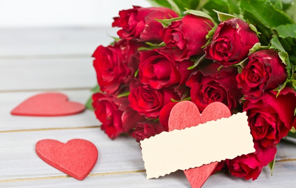 Picture flower, love, tape, holiday, heart, roses, bouquet, love, flower, heart, holiday, bouquet, roses, ribbon