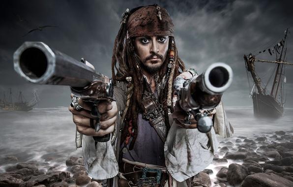Picture Jack Sparrow, makeup, Louis Guglielmero