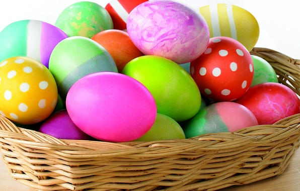 Picture paint, eggs, spring, Easter, basket