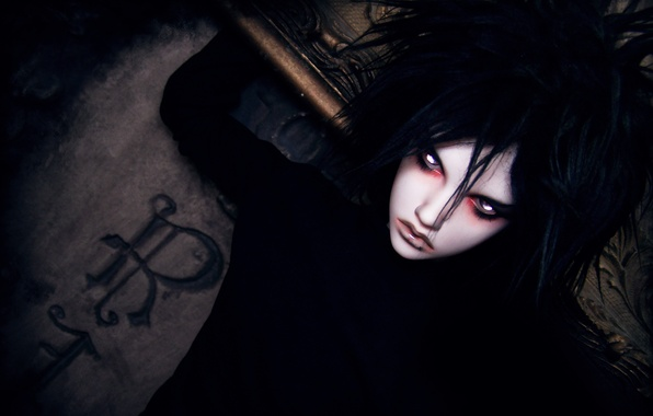 Picture letters, doll, guy, Death note, fan art, Beyond Birthday, the eyes of the God of …