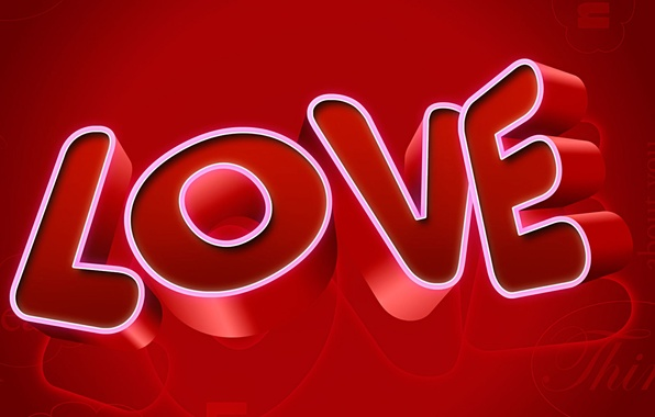 Picture the inscription, recognition, the word, Valentine's day